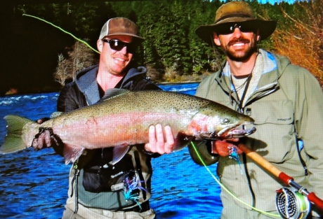 John Rickard and his first Umpqua steelhead