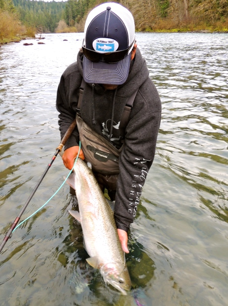 Chuck Volckhausen of Wild Waters Fly Fishing with a beauty